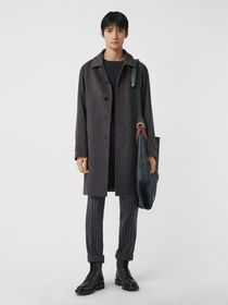 Burberry Cashmere Car Coat in Pewter Melange