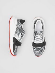 Burberry Dreamscape Print Leather Sneakers in Opti