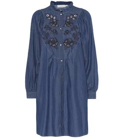 Coach Embroidered chambray dress