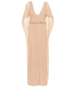 Chloé Grecian pleated crêpon gown