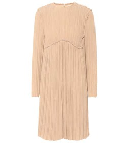 Chloé Crêpe pleated dress