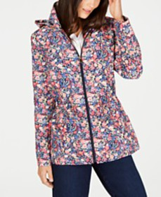 Charter Club Floral-Print Anorak Jacket, Created f