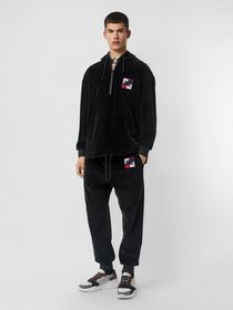 Burberry Embroidered Chequer EKD Velour Hoodie in