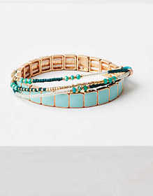 American Eagle AE Blue 4-Pack Bracelet Arm Party