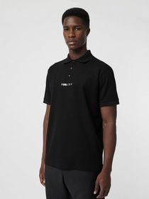 Burberry Embellished Logo Polo Shirt in Black