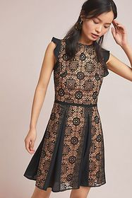 Anthropologie ML Monique Lhuillier Calypso Lace Dr