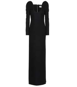 Saint Laurent Drap de laine column dress