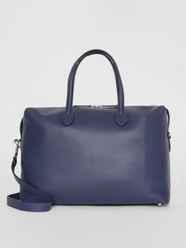Burberry Soft Leather Holdall in Regency Blue