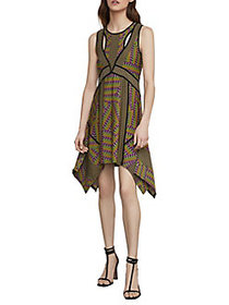 BCBGMAXAZRIA Mixed Print Handkerchief Dress VIVID