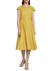 BCBGMAXAZRIA Parachute Fit-&-Flare Dress SUNSHINE