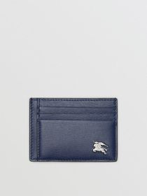 Burberry London Leather Money Clip Card Case in Na