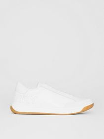 Burberry Perforated Logo Leather Tennis Sneakers i