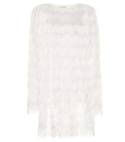 Balmain Fringed minidress