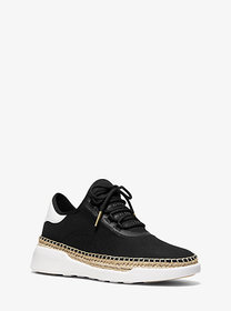 Michael Kors Finch Canvas and Leather Lace-Up Snea