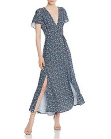 FRENCH CONNECTION - Eden Frances Faux-Wrap Maxi Dr