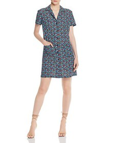 FRENCH CONNECTION - Eden Ditsy Crepe Shirt Dress