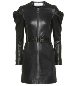 Victoria Victoria Beckham Belted leather dress