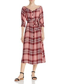 Whistles - Off-the-Shoulder Plaid Dress - 100% Exc
