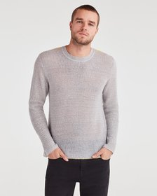 7 For All Mankind Contrast Linking Sweater in Heat