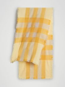 Burberry Lightweight Check Wool and Cashmere Scarf