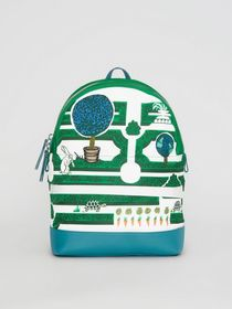Burberry Hedge Maze Print Backpack in Bright Pigme