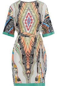 ETRO Belted printed silk crepe de chine dress