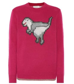 Coach Pixel Rexy wool and cashmere sweater