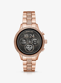 Michael Kors Runway Heart Rate Pavé Rose Gold-Tone