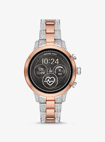Michael Kors Runway Heart Rate Pavé Two-Tone Smart