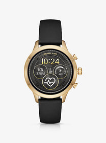 Michael Kors Runway Heart Rate Gold-Tone and Silic