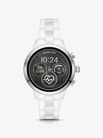 Michael Kors Runway Heart Rate Silver-Tone and Cer