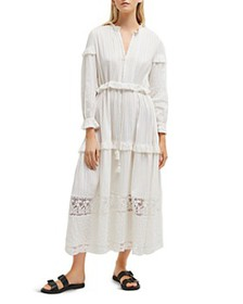 FRENCH CONNECTION - Coletta Tiered Ruffled Maxi Dr