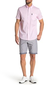 Ben Sherman Check Cuffed Cotton Shorts