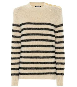 Balmain Wool and alpaca-blend sweater
