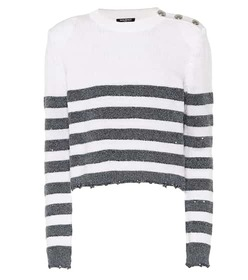 Balmain Sequined striped sweater