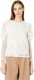 See by Chloe Textured Georgette Blouse with Tie