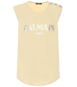Balmain Printed cotton top