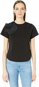 See by Chloe Embroidered Butterfly Crew Neck T-Shi
