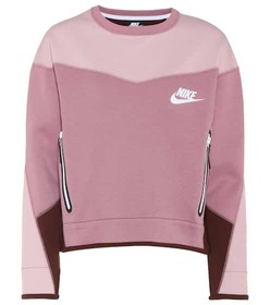 Nike Cotton-blend cropped sweater