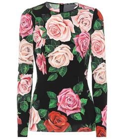 Dolce & Gabbana Floral stretch silk top