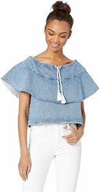 Levi's® Premium Made & Crafted Denim Ruffle Top