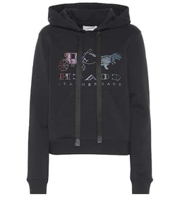 Coach Rexy embroidered cotton hoodie