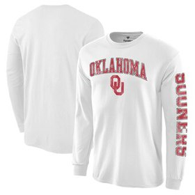 Oklahoma Sooners Distressed Arch Over Logo Long Sl