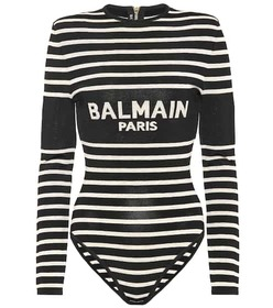 Balmain Striped bodysuit