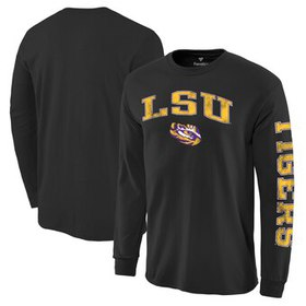 LSU Tigers Distressed Arch Over Logo Long Sleeve H