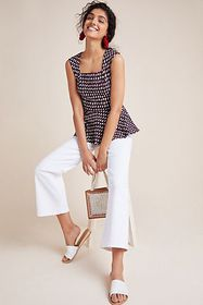 Anthropologie Effie Peplum Top