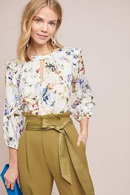 Anthropologie Araminta Ruffled Top