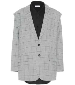 Balenciaga Wool-blend jacket and shirt