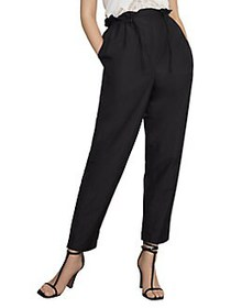 BCBGMAXAZRIA High-Rise Paperbag Pants BLACK