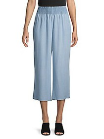 Context Smocked-Waist Culottes SOUTHERN BLUE